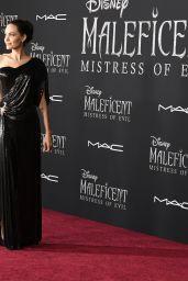 "Angelina Jolie in a Black Dress – ""Maleficent: Mistress of Evil"" Premiere in LA"