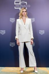 Cara Delevingne in a Sophisticated White Suit 10/27/2019