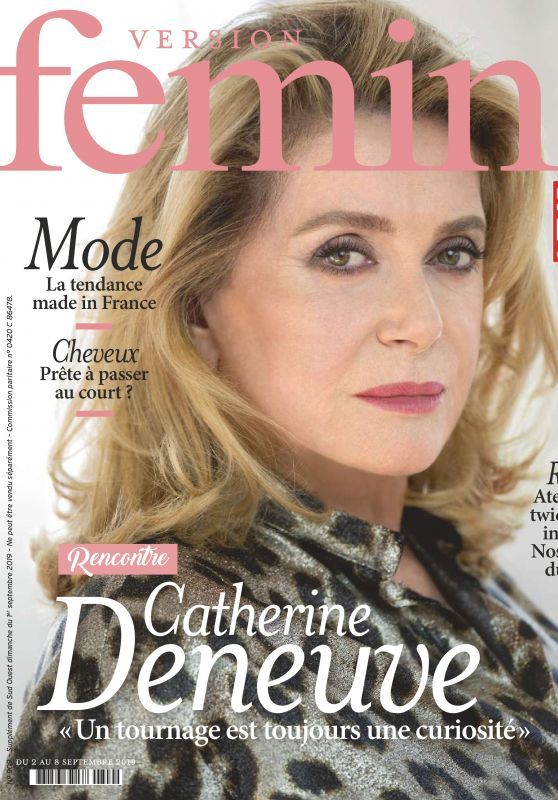 Catherine Deneuve - Version Femina September 2019 Issue