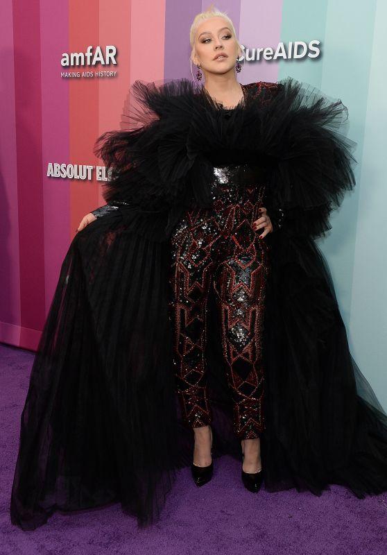 Christina Aguilera – 2019 amfAR Gala in LA
