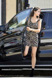 Eiza González in a Leopard Print Dress - LA 10/10/2019