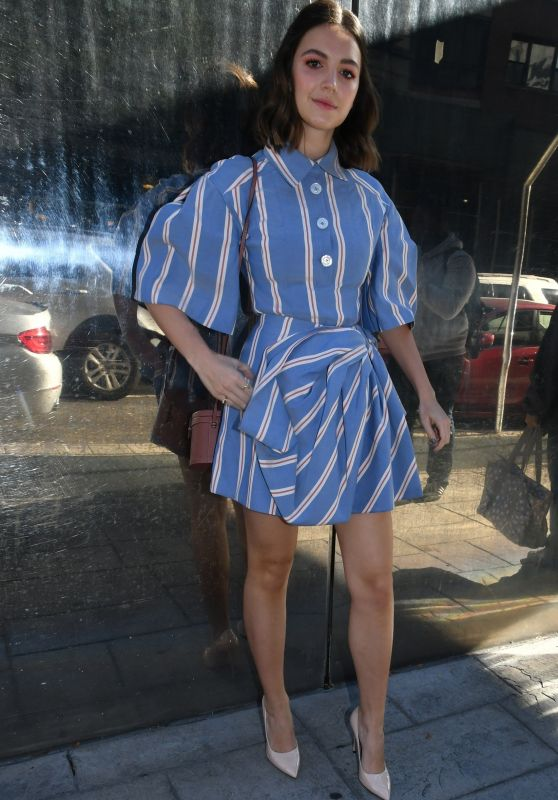 Ella Hunt in Mini Dress - Leaves the FOX Building in NYC 10/24/2019