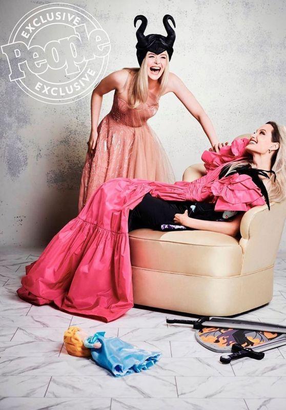 Elle Fanning and Angelina Jolie - People Magazine October 2019