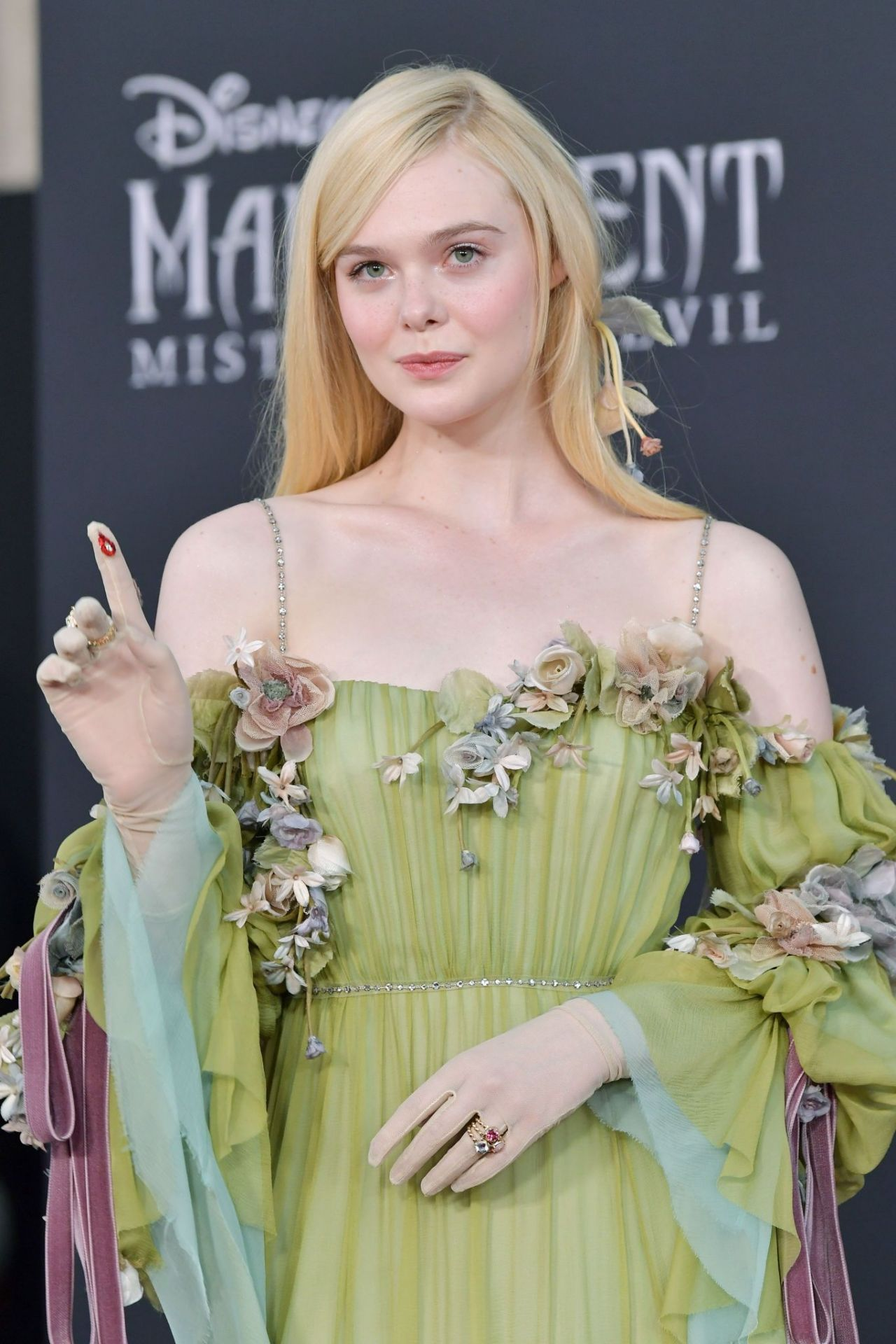 Elle Fanning Maleficent Mistress Of Evil Premiere In La