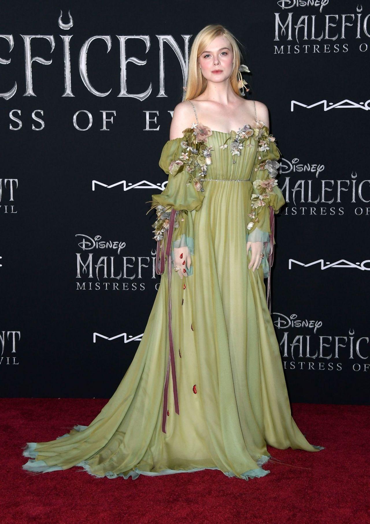 Elle Fanning Maleficent Mistress Of Evil Premiere In La