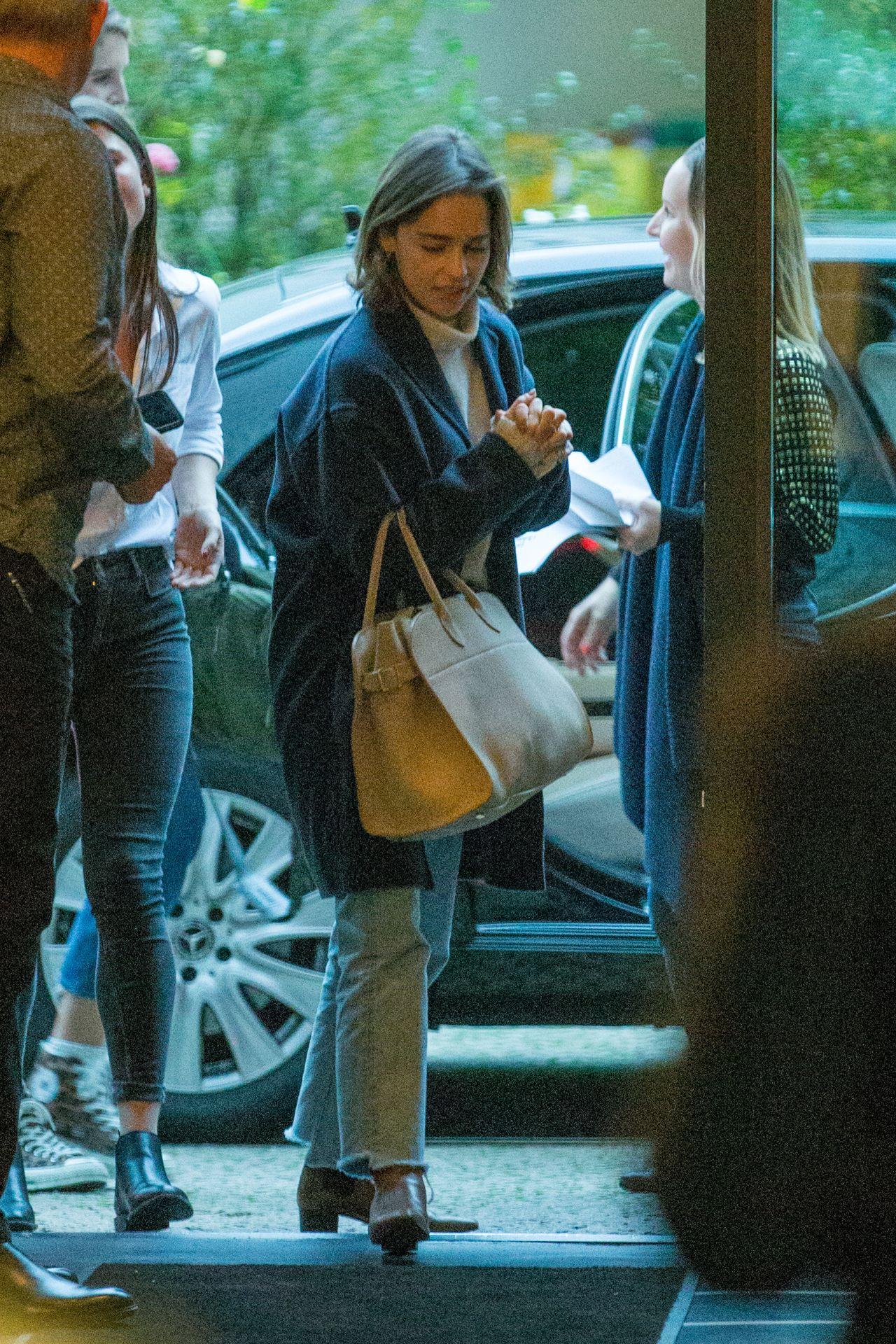 Emilia Clarke Arriving At Soho House In Berlin 10 21 2019