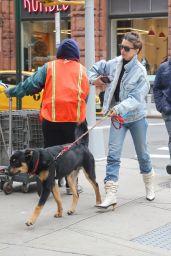 Emily Ratajkowski - Taking a Stroll With Her Dog in NY 10/17/2019