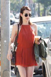 Emma Roberts in Mini Dress - Los Feliz 10/09/2019