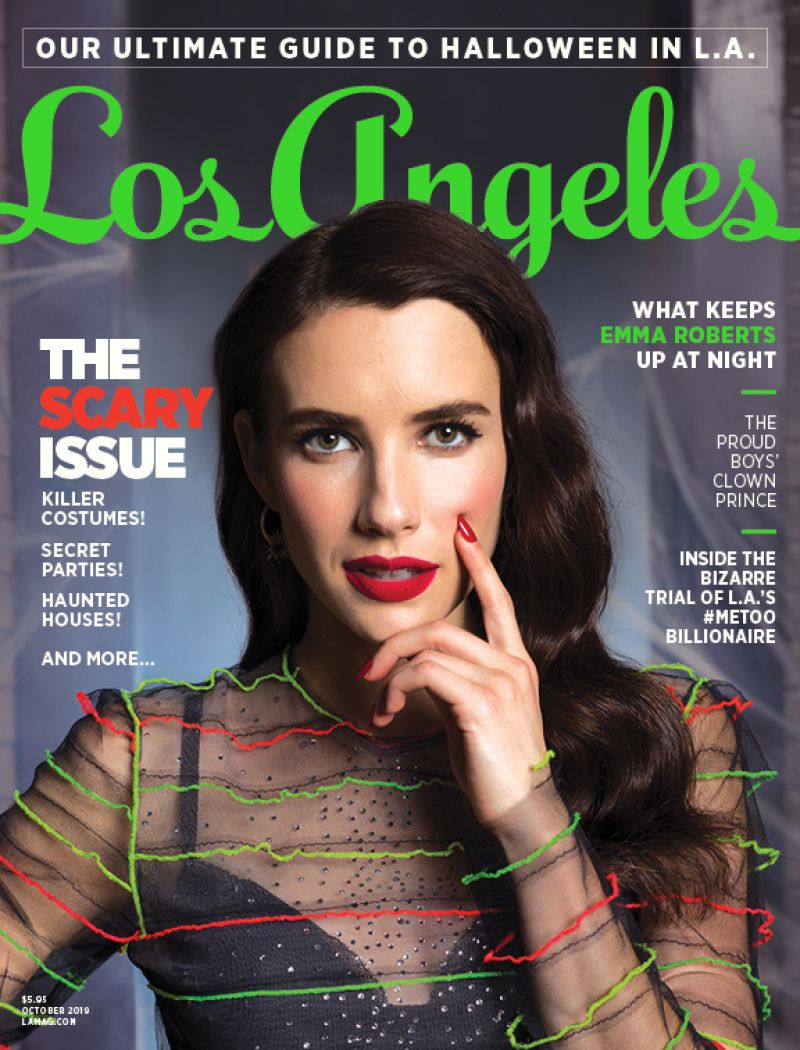 Emma Roberts Los Angeles Magazine October 2019 Cover And Photos