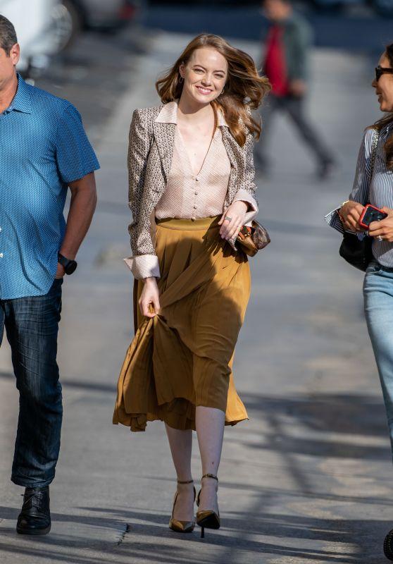 Emma Stone - Arriving at Jimmy Kimmel Live in LA 10/10/2019