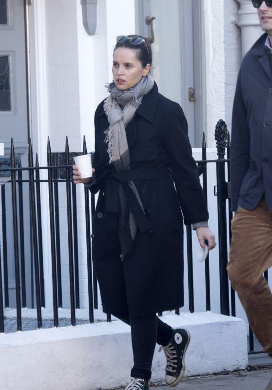 Felicity Jones - Out for a Walk in London 10/22/2019