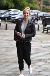 Gemma Atkinson - Arriving at Hits Radio Manchester 10/05/2019
