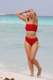 Grace Levy in a Red Bikini 10/07/2019