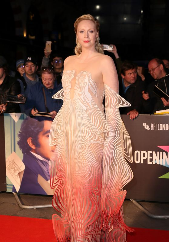 "Gwendoline Christie - ""The Personal History of David Copperfield"" Premiere at  BFI London Film Festival"