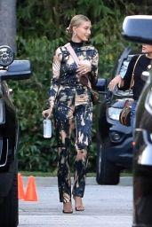 Hailey Rhode Bieber in a Jumpsuit - Santa Monica 10/06/2019