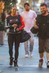 Halle Berry in Skintight Workout Gear 10/08/2019