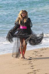 Heidi Klum - Photoshoot on the Beach in Malibu 10/23/2019