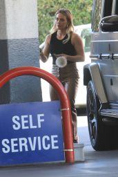 Hilary Duff - Pumping Gas in Beverly Hills 10/13/2019