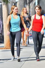 Hunter King and Joey King - Leaving a Gym in Studio City 10/14/2019