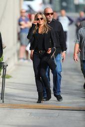 Jennifer Aniston - Arrives at the Jimmy Kimmel Live Backlot in Hollywood 10/16/2019