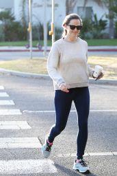 Jennifer Garner in Tights - Blue Bottle Cafe in Brentwood 10/30/2019
