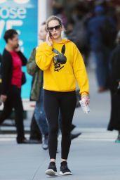 Jennifer Lawrence in Twisted Playboy Bunny Hoodie - NYC 10/07/2019