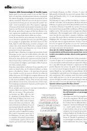 Jennifer Lopez - ELLE Italy 10/26/2019 Issue