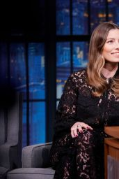 Jessica Biel - Late Night With Seth Meyers Show in New York City 10/23/2019