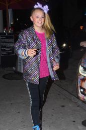 JoJo Siwa - With Her Tricked Out Tesla X in Los Angeles 10/16/2019