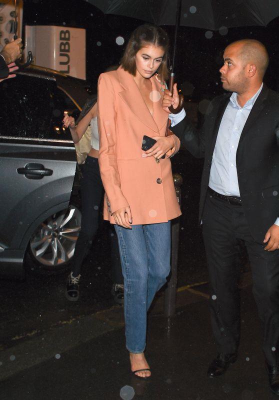 Kaia Gerber - Arriving at the Miu Miu After Party Dinner in Paris 10/01/2019