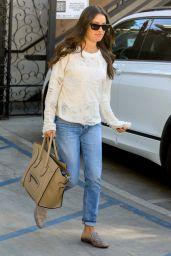 Lea Michele - Leaving Nine Zero One Salon in West Hollywood 10/14/2019