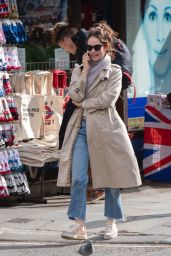 Lily James - Out in Ladbroke Grove, London 10/10/2019