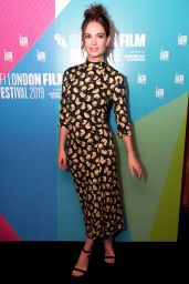 """Lily James - """"Rare Beasts"""" Premiere at BFI London Film Festival"""