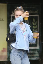 Lily-Rose Depp - Aroma Cafe in LA 10/29/2019