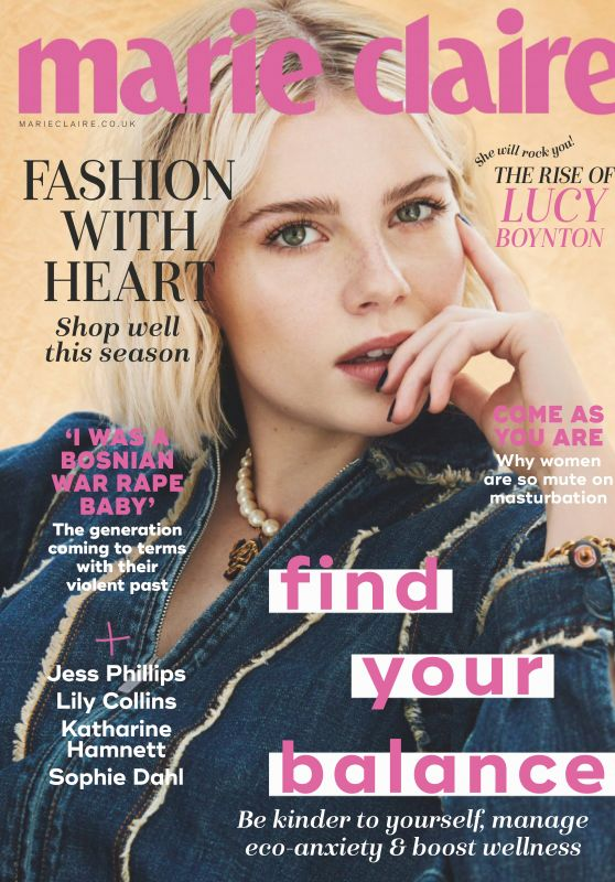 Lucy Boynton - Marie Claire UK November 2019 Issue