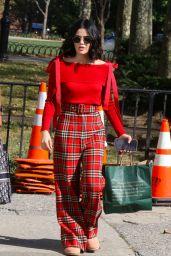 """Lucy Hale - Filming """"Katy Keene"""" in Brooklyn 10/02/2019"""