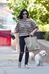 Lucy Hale - Shopping in NYC 10/08/2019