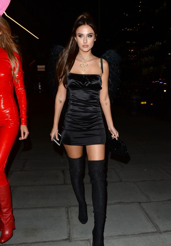 Lucy Watson as Ariana Grande for Halloween in London 10/25/2019