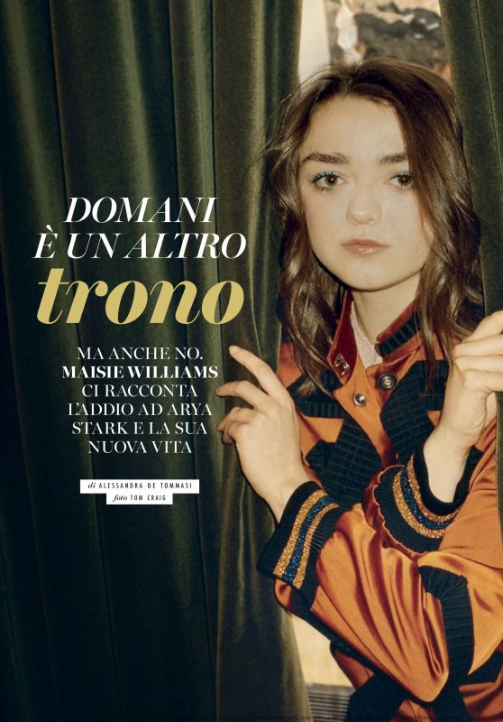 Maisie Williams - Glamour Italy November 2019 Issue