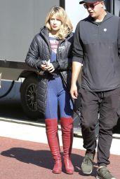 "Melissa Benoist - ""Supergirl"" Set in Vancouver 10/01/2019"