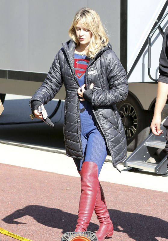 "Melissa Benoist - ""Supergirl"" Set in Vancouver 10/01/2019"