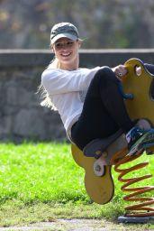 Michelle Hunziker - Having Fun at the Park in Bergamo 10/13/2019
