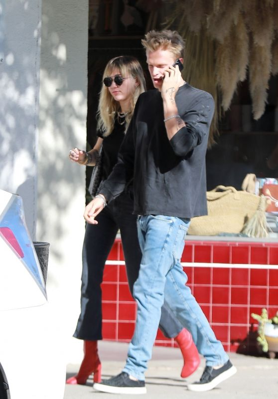 Miley Cyrus With Cody Simpson - Out for Lunch in LA 10/25/2019