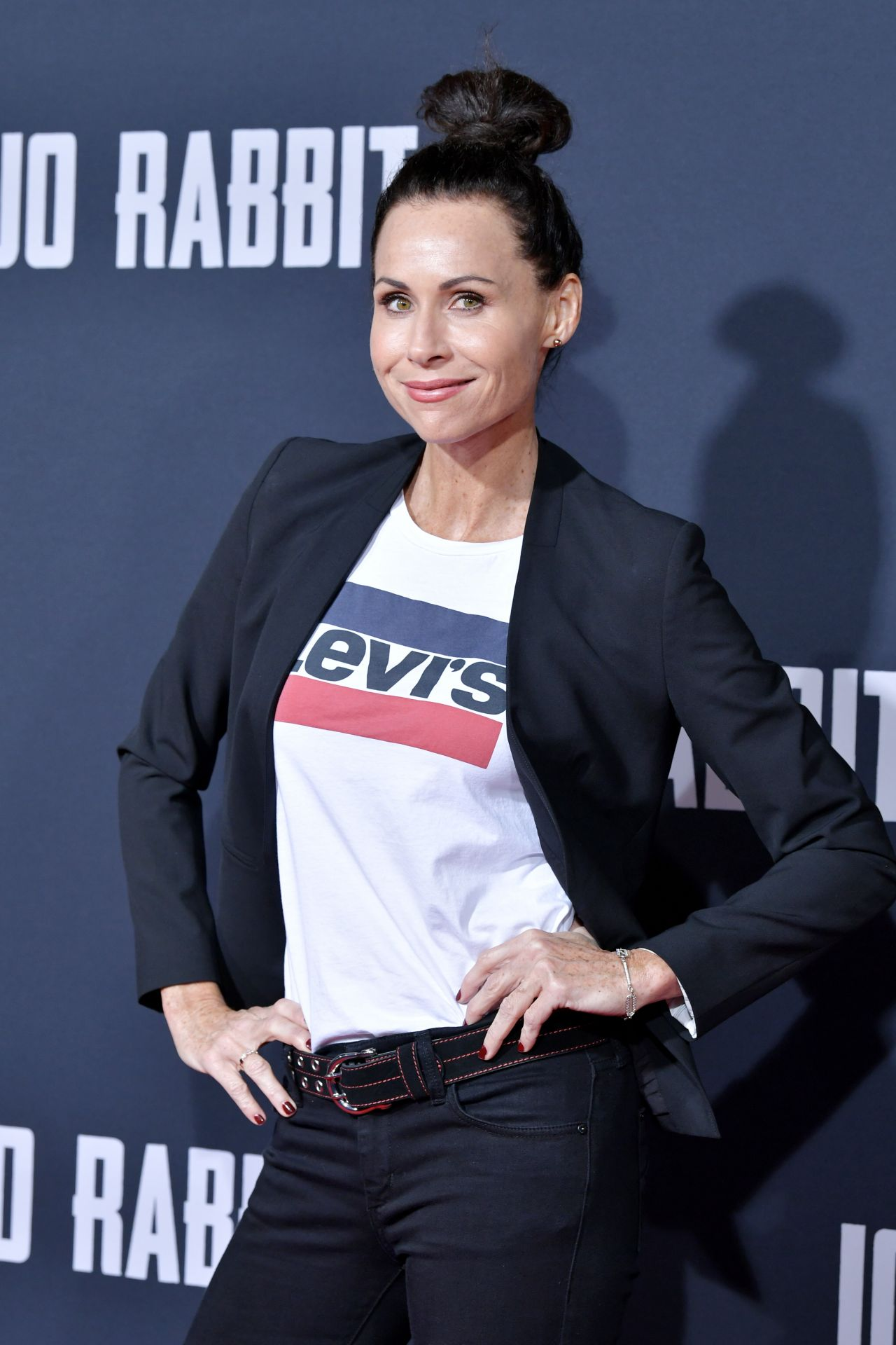 British milf Minnie Driver at JoJo Rabbit movie premiere