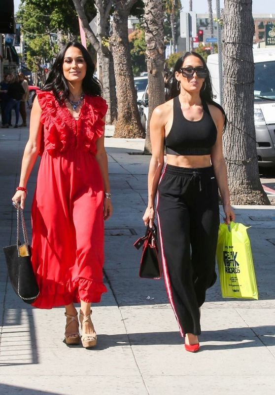 Nikki Bella and Brie Bella - Shop on Ventura Blvd in Studio City 10/14/2019