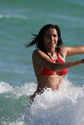 Padma Lakshmi in a Red Bikini, Summer 2019