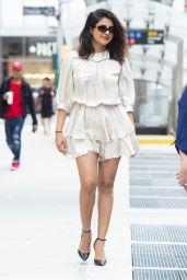 Priyanka Chopra in Short White Dress - NYC 10/07/2019