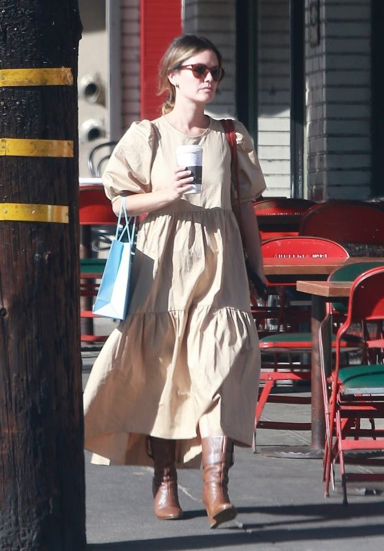 Rachel Bilson Style - Leaving Starbucks in Los Feliz 10/02/2019
