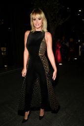 Rhian Sugden - Arriving at the Manchester Fashion Festival in Manchester 10/12/2019