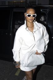 Rihanna Night Out Style - Out in Soho 10/10/2019